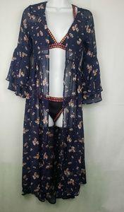 Arizona Kimono Semi Sheer Open Long Kimono Boho